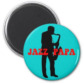 Jazz papa jazz 6 cm round magnet