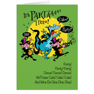 Jazz Party Birthday Card