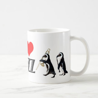 Jazz penguin mug