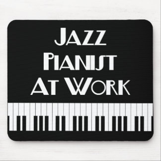 Jazz Pianist At Work and Piano Keys Mouse Mat