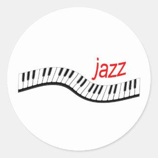 Jazz Piano Round Stickers