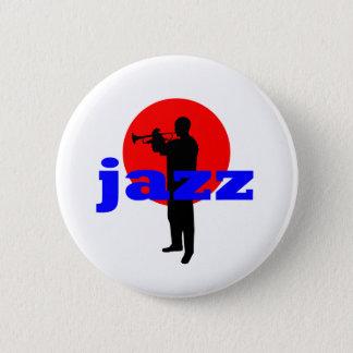 Jazz Player 6 Cm Round Badge