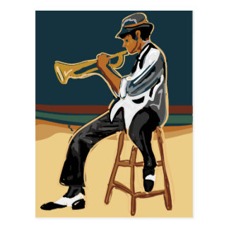 Jazz Player Post Card