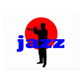 Jazz Player Postcard
