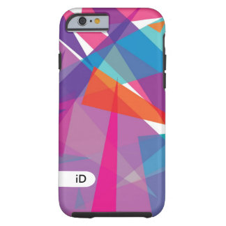 JAZZ | purple, orange and blue bright abstract Tough iPhone 6 Case