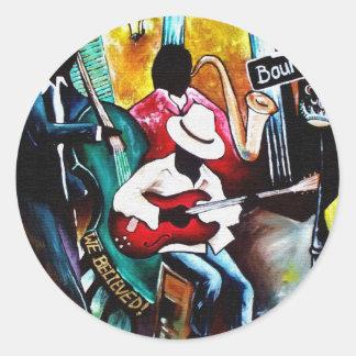 jazz purse.jpg round sticker
