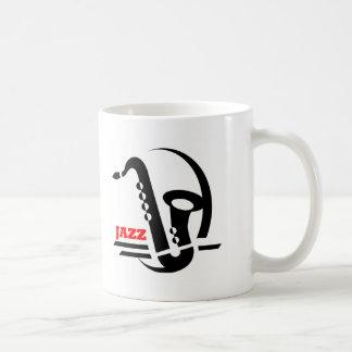 Jazz Sax Basic White Mug