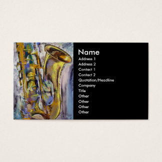 Jazz Sax Business Card