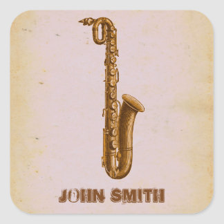 Jazz Sax Music Small Business Branding Stickers