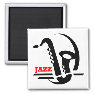 Jazz Sax Square Magnet