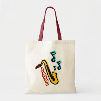 Jazz Sax Tote Bag