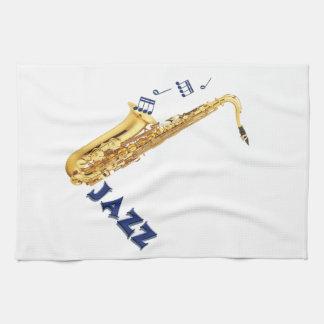 Jazz Saxophone Kitchen Towel