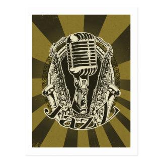 Jazz ~ Saxophone Sax  Blues Music Postcard