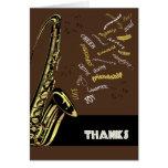 Jazz Saxophone Thank You Card