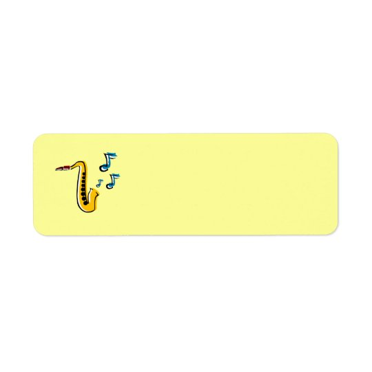 Jazz Saxophone with Notes Avery Label