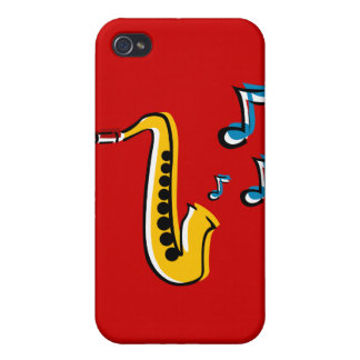 Jazz Saxophone with Notes iPhone Case iPhone 4 Case
