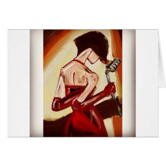 Jazz Singer Card