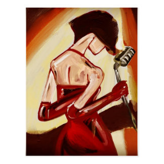 Jazz Singer Postcard