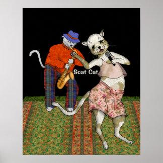 Jazz Singer Scat Cat Poster