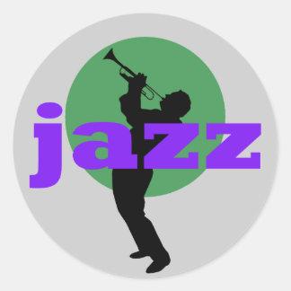 Jazz Round Sticker