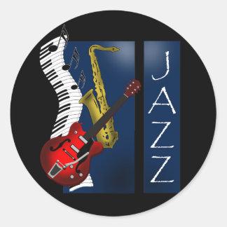 Jazz Round Stickers