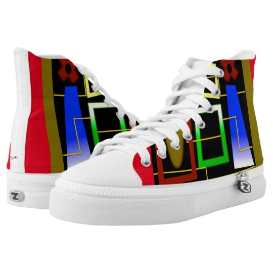 JAZZ TENNIS SHOES, i Art and Designs Printed