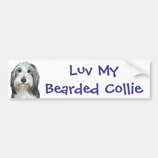 Jazz, the Bearded Collie Bumper Sticker