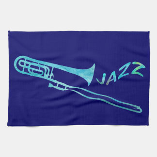 Jazz Trombone Tea Towel