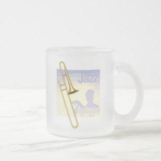 Jazz Trumpet Frosted Glass Mug