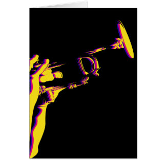 Jazz Trumpet Player Card