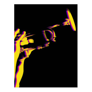Jazz Trumpet Player Postcard