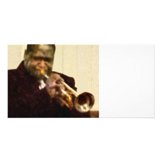 Jazz Trumpeter Customized Photo Card