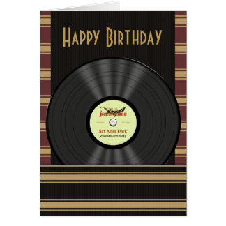 Jazz Vinyl Record Personalized Cards