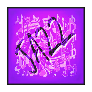 Jazz Violet Infusion Purple Music Notes Canvas Print