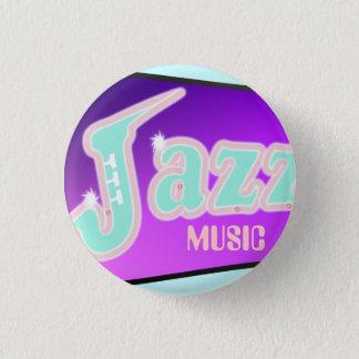 Jazz with Saxophone 3 Cm Round Badge