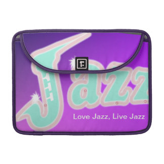 Jazz with Saxophone Sleeve For MacBooks