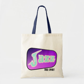 Jazz with Saxophone Tote Bag
