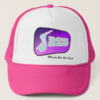 Jazz with Saxophone Trucker Hat
