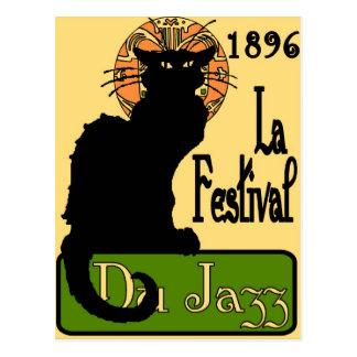 JazzFest Chat Noir 1896 Postcard