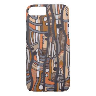 Jazzy Abstract Earthtones iPhone 7 Case