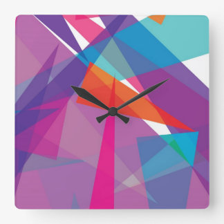 JAZZY | abstract triangles Wall Clock