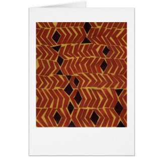 Jazzy african-inspired abstract pattern card