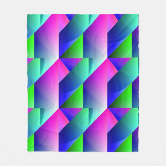Jazzy Blue Pattern Fleece Blanket