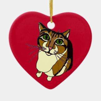 Jazzy Cat Heart Ornament