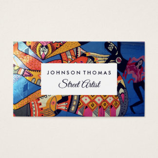 Jazzy Graffiti Art, Artists Business Card