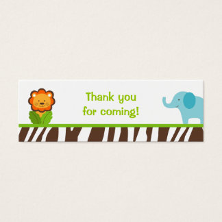 Jazzy Jungle Animal Party Favor Gift Tags Mini Business Card