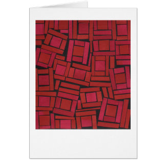 Jazzy red abstract pattern note card