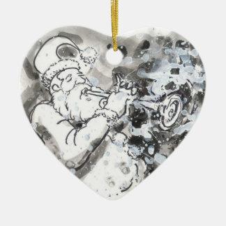"""Jazzy Santa"" Christmas Ornament"