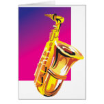 Jazzy Saxophone Greeting Card
