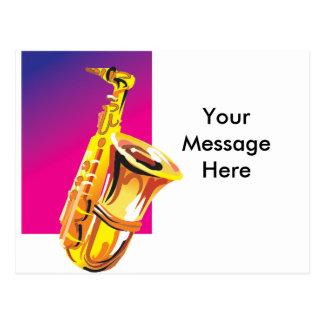 Jazzy Saxophone Postcard